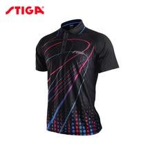 Stiga, одежда для настольного тенниса для мужчин и женщин, футболка с коротким рукавом, футболка для пинг-понга, Джерси, спортивные майки