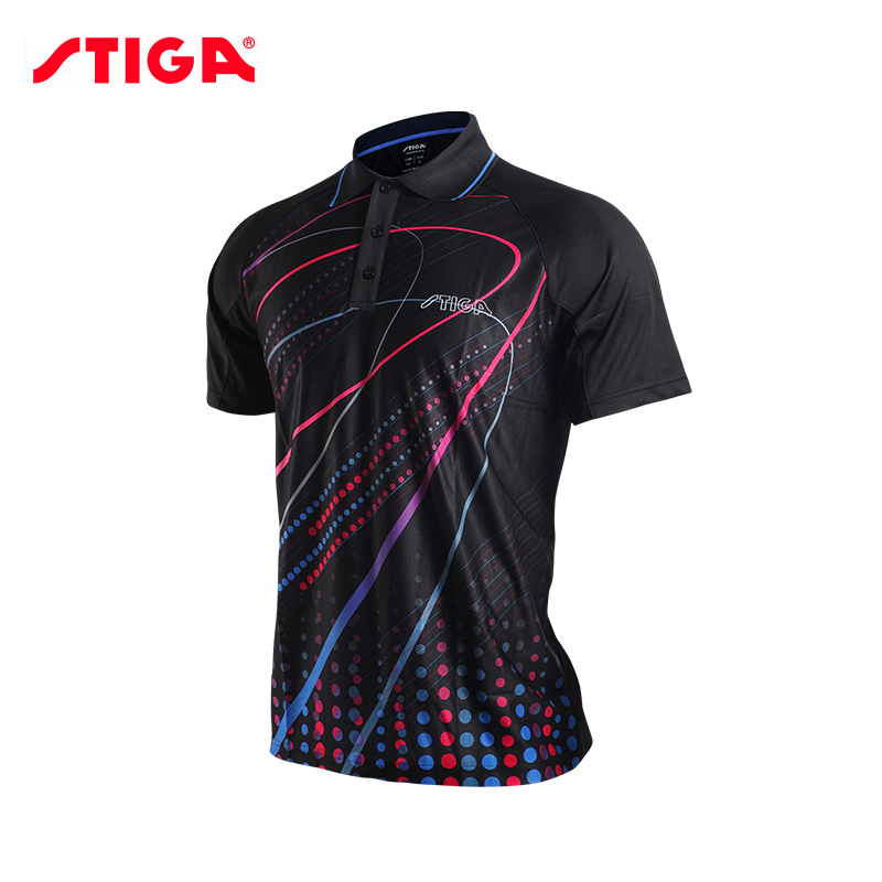 2017 Stiga Table tennis clothes for men and women clothing T-shirt short sleeved shirt ping pong Jersey Sport Jerseys