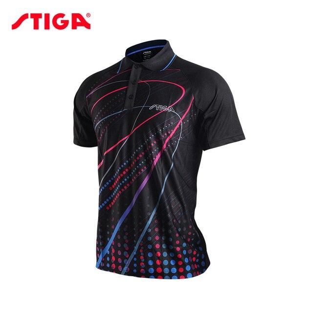 4c146c827fc06 2017 Stiga de tenis de mesa de ropa para hombres y mujeres ropa camiseta  camisa de