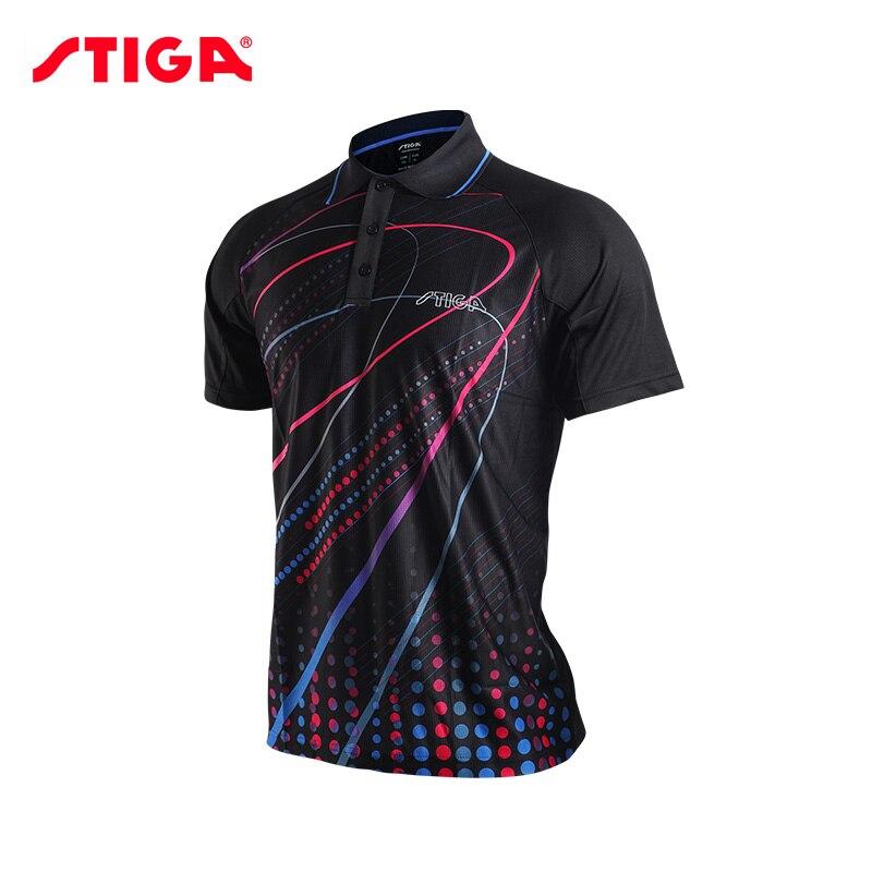 Prix pour 2017 Stiga tennis de Table vêtements pour hommes et femmes vêtements T-shirt manches courtes chemise ping-pong Jersey Sport Maillots