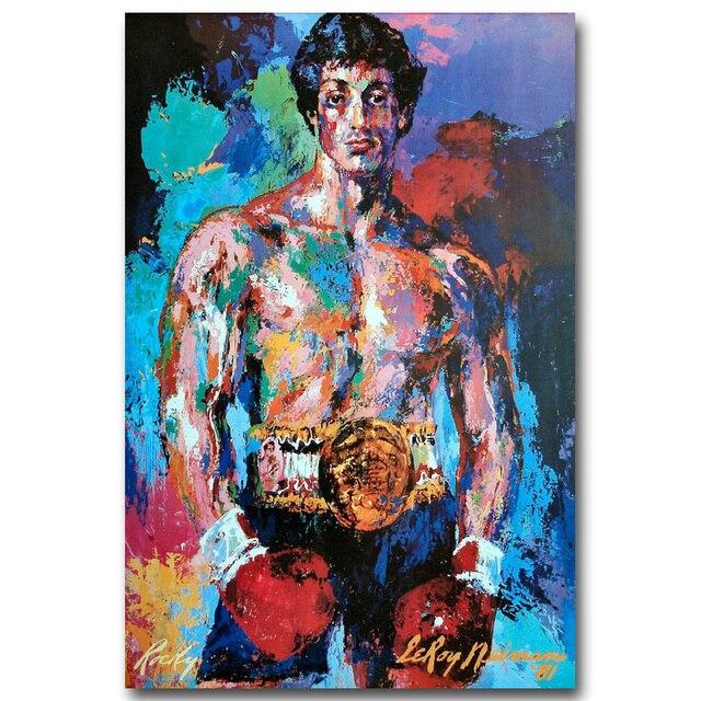 Плакат гобелен шелковый Рокки Бальбоа Сильвестр Сталлоне арт