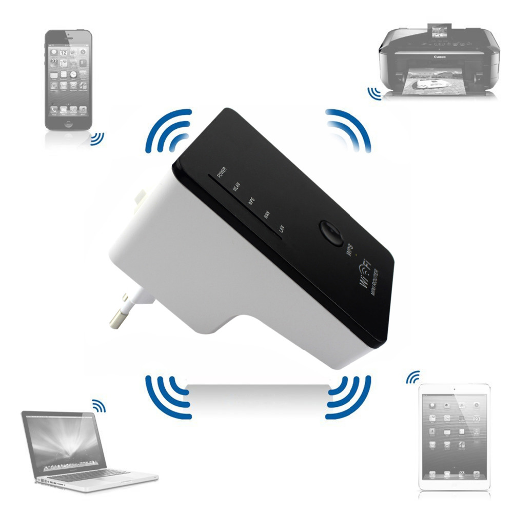 NOYOKERE Fashion 802.11N mini Wifi Repeater Wireless-N AP Range Extender 300Mbps Booster Signal Amplifier wlan EU/US