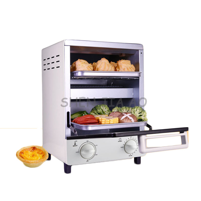 Four électrique commercial Vertical GH12A maison double couche cuisson machine multi-fonction oeuf tarte/pizza/pain/gâteau/BBQ four 220 V