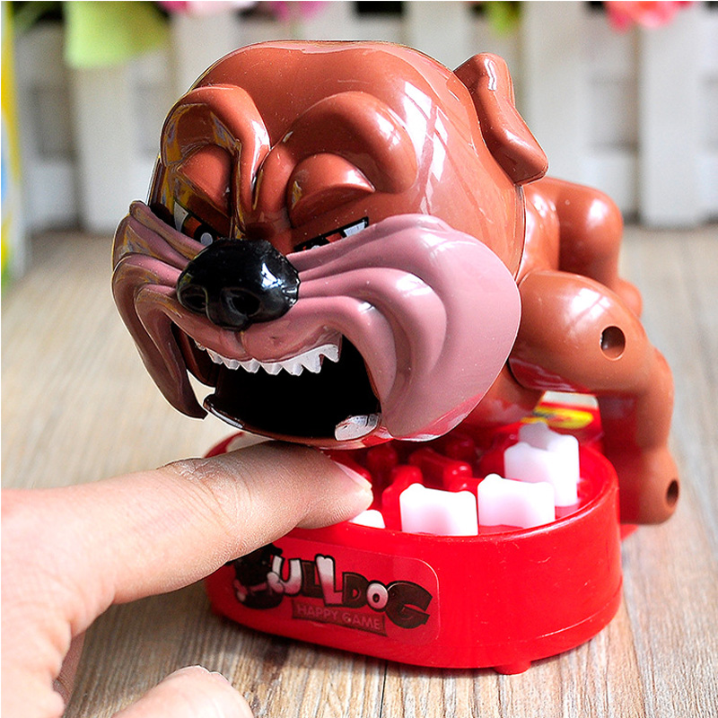 Popular toys Children's educational toys Tricky entire toy vicious dog bites the hand toys interactive games table image