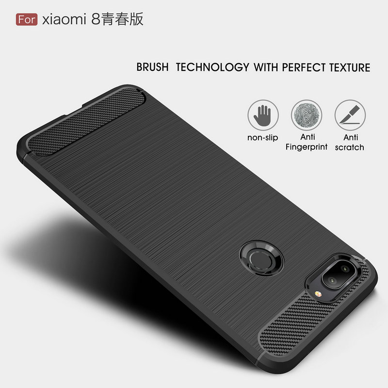WIERSS Anti-fingerprint Phone Case Cover for <font><b>Xiaomi</b></font> Mi 8 Lite for <font><b>Xiaomi</b></font> Mi 8 <font><b>Mi8</b></font> 64GB <font><b>128GB</b></font> 256GB Slim Armor Case Cover Fundas> image