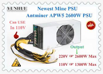 Nowy Antminer APW5 2600W BITMAIN zasilacz 12V 216A MAX 2600W dla ANTMINER Z9 Mini S9 S9i S9j l3 + D3 A3 DR3 bajkał BK-X BK-G28 A9 tanie i dobre opinie YUNHUI 10 100 1000 mbps Antminer APW5 2600W BITMAIN PSU