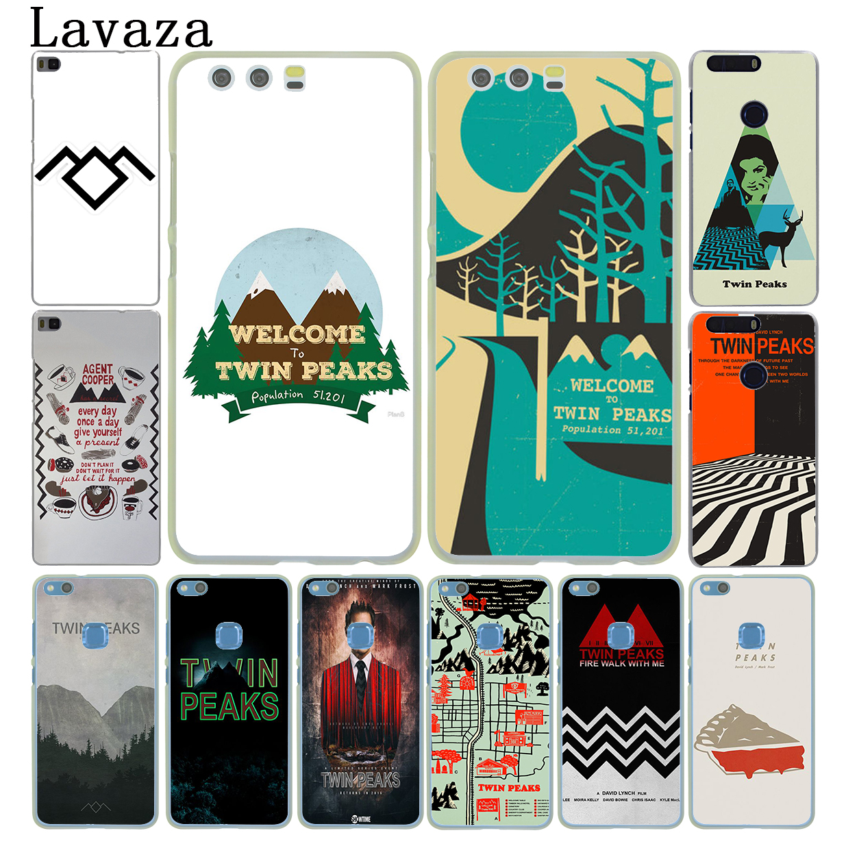 Lavaza Welcome To Twin Peaks Hard Case for Huawei P20 P10 P9 Plus P8 Lite Mini 2015 2016 2017 P Smart Mate 9 10 Lite Pro Cover