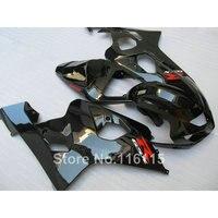 plastic fairing kit for SUZUKI GSXR 600 GSX R 750 K4 K5 2004 2005 all glossy black fairings bodywork GSXR600 04 05 TY92