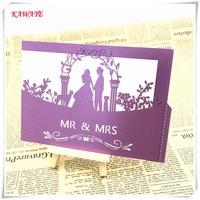 44pcs New Laser Cut Luxury Wedding Invitation Card Romantic Groom Bride Birthday Greeting Card Invitations Blessing Card 6ZH07