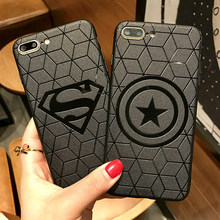 Marvel Avengers Captain America Shield Superhero Case for iPhone 6s 7 8 Plus X 10 XS Max XR Silicone Rubber Cover Ironman coque(China)
