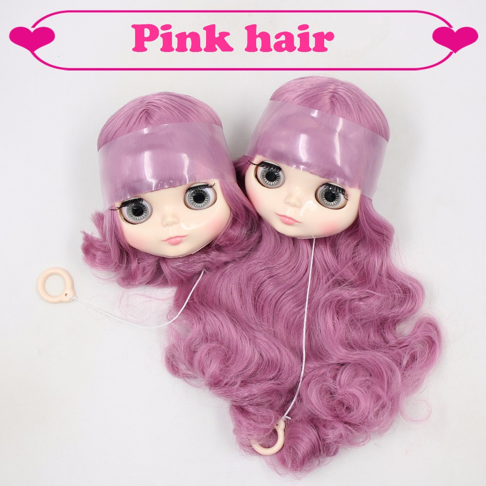 Factory blyth head only without body short long pink hair BL1063