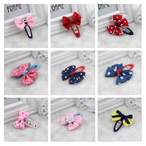 Hairpin/Hairclip with Ribbon Bow Hair Accessories for Girl Kids Children