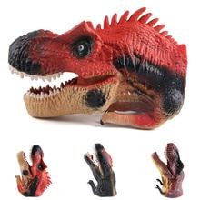 Simulation Plastic Dinosaur Puppet Toy Soft Vinyl PVC Dinosaur Animal Head Hand Puppet Figure Toys Gloves Children Toy Model hot toy mosasaurus dinosaur model hand paint soft pvc animal action