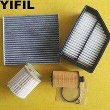 Filtro de óleo + filtro de ar + filtro de cabine + filtro de combustível diesel para ssangyong korando 2.0l carro diesel