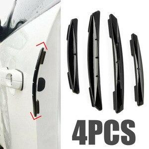 Image 1 - Mayitr 4pcs Car Sticker Door Edge Guards Trim Molding Protection Strip Scratch Protector Car Crash Barriers Door Guard Collision