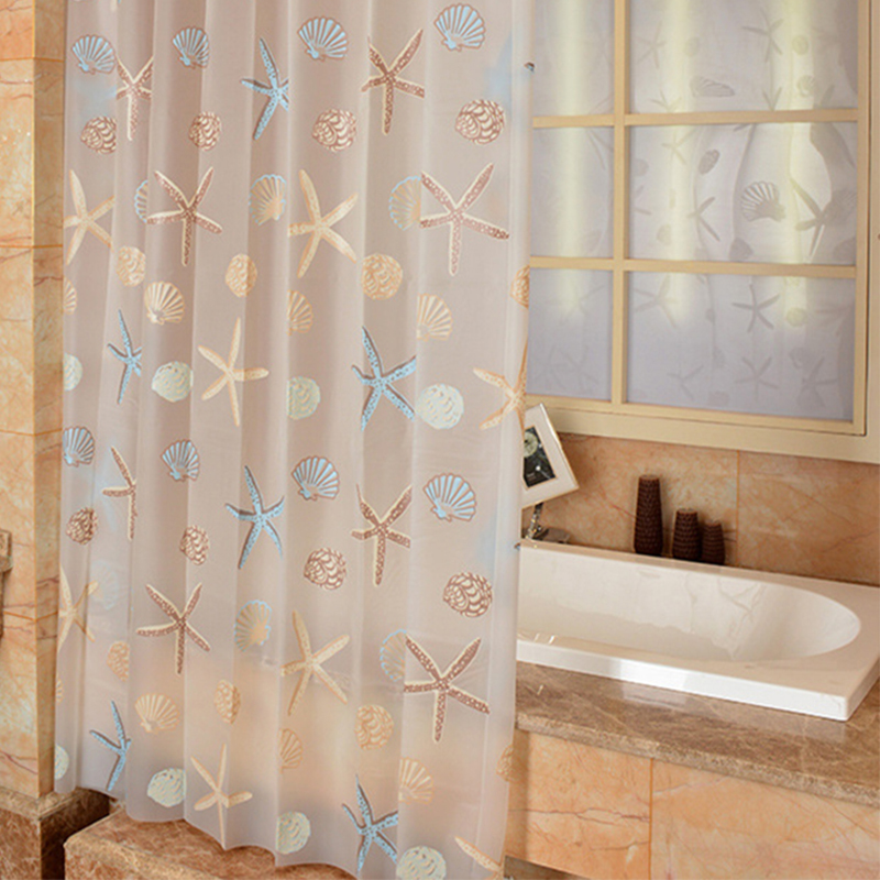 Good High Quality Starfish PEVA Eco Friendly Shower Curtains Waterproof  Polyester Bathroom Accessories Shower Curtain With Hooks In Shower Curtains  From Home ...