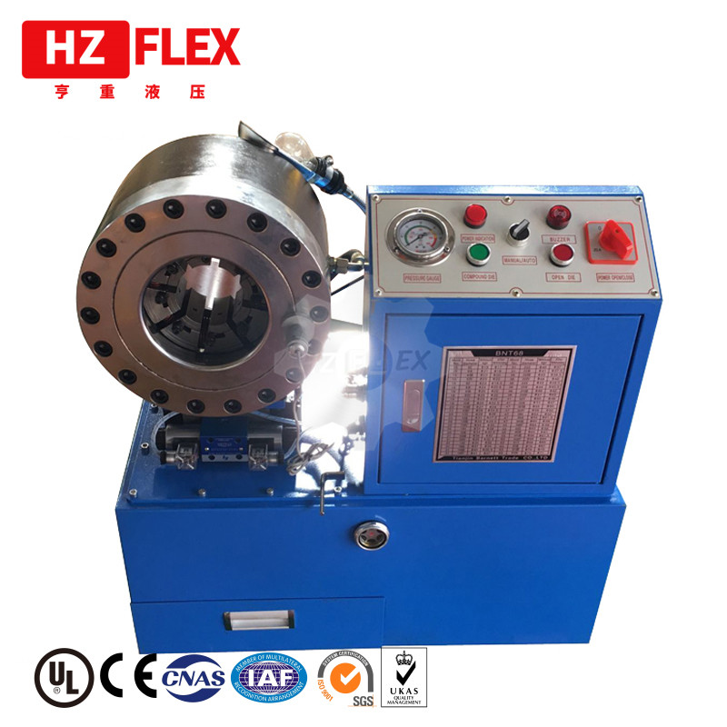 Free shipping DDP service to Spain Hose Crimping Machine with <font><b>10</b></font> sets dies <font><b>1</b></font>/4