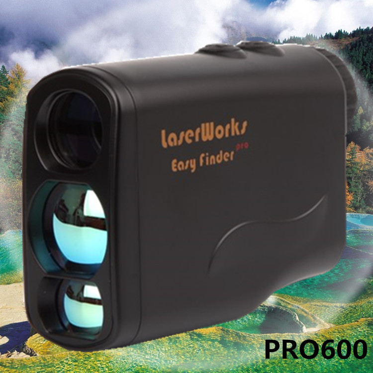 Handheld laser font b rangefinder b font 650 Y laser range hunting telescope golf scope laser