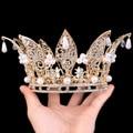 Queen Fan wild golden crown pendant pearl drops , European style  0714