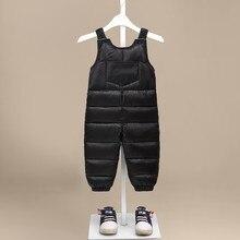MUQGEW/зимние комбинезоны для девочек и мальчиков; детские зимние толстые теплые брюки на ремень с подтяжками; комбинезоны; брюки; детская одежда