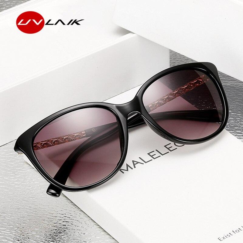 UVLAIK Brand Star Style Luxury Sunglasses Women Oversized Su