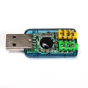 Image 4 - 800X USB כדי 3D אודיו USB חיצוני כרטיס קול מתאם 5.1 ערוץ קול מקצועי מיקרופון 3.5mm ממשק דה אודיו