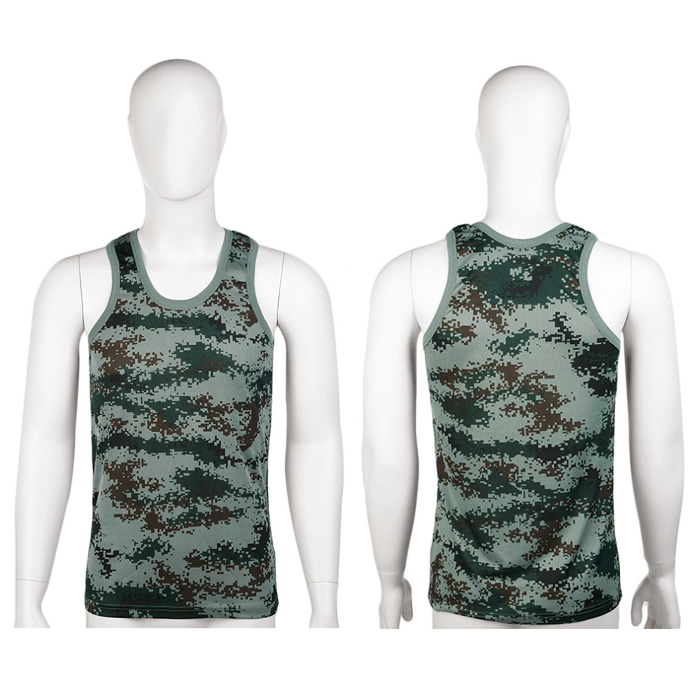 Vests 2016 Running Vests Military Style Men Vest Camouflage Tank Top Tight Sport Skinny Best Seller
