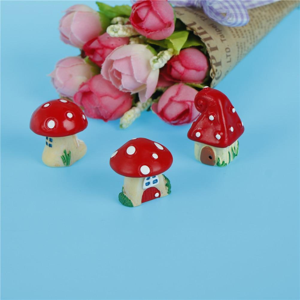Gnome Garden: Red Mushroom House DIY Resin Fairy Garden Craft Decoration