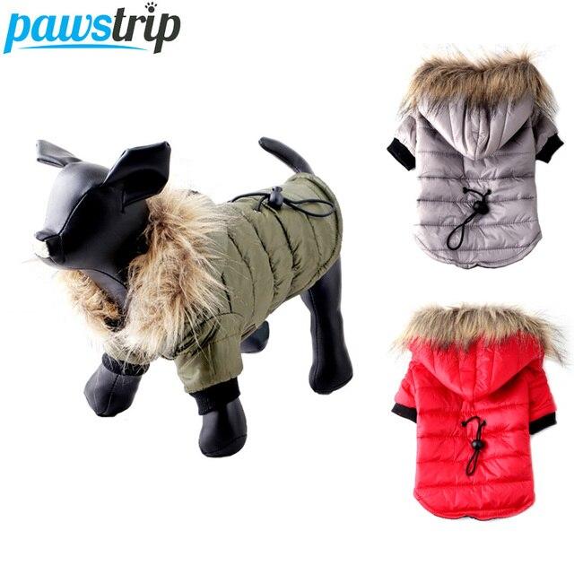 Pawstrip XS XL Caldo Piccolo Cane Vestiti di Inverno Del Cane del Rivestimento del Cappotto Cucciolo Rifornisce Per Chihuahua Yorkie Vestiti Animali Domestici Vestiti Del Cane di Inverno