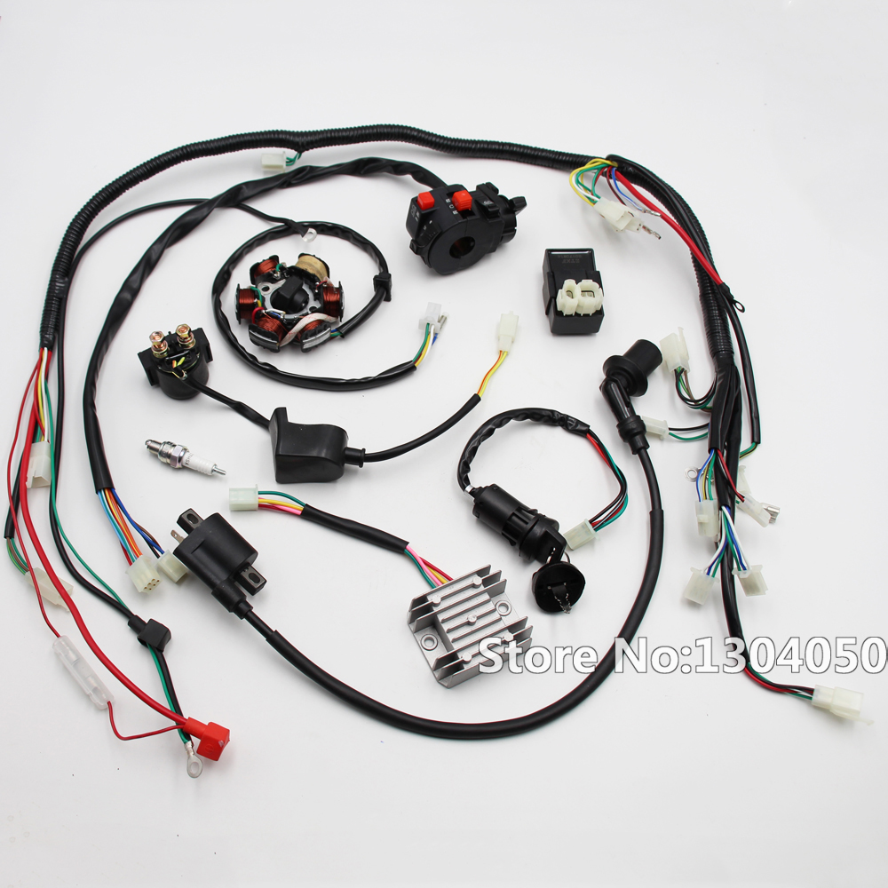 Engine Wire Loom Wiring Harness Wireloom Gy6 125cc 150cc 200cc Full Electric Magneto Stator Atv Quad 6 Coil New