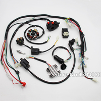 FULL ELECTRIC GY6 125cc 150cc LOOM MAGNETO STATOR ATV QUAD WIRING HARNESS 6 Coil new