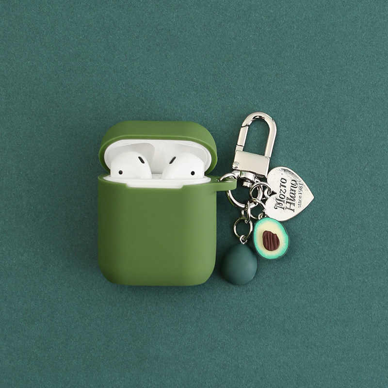 Avocado Silicone Case for Apple Airpods Bluetooth Wireless Earphone Accessories Air pods Headset Headphone Protective Cover