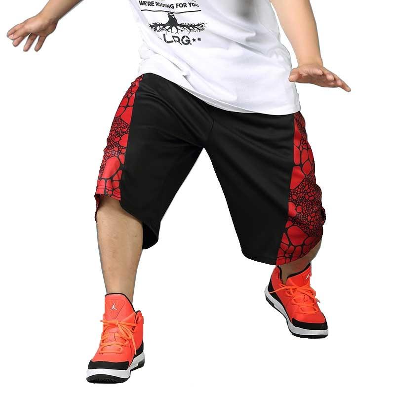Summer Loose Baggy Short Men Polyester Hip Hip Short Boardshort Elastic Waist Wide Male Clothing Plus Size XL 4XL For 125KG