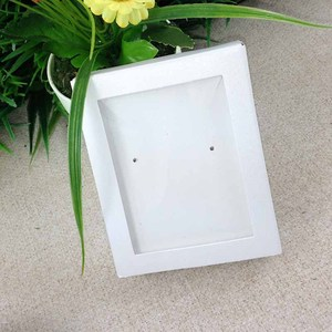 Image 2 - Necklace Card Window Box white 1Lot =50box +50 pcs inner Card Pearl White Necklace Box Gifg BOX Pendent Box / Earring Case