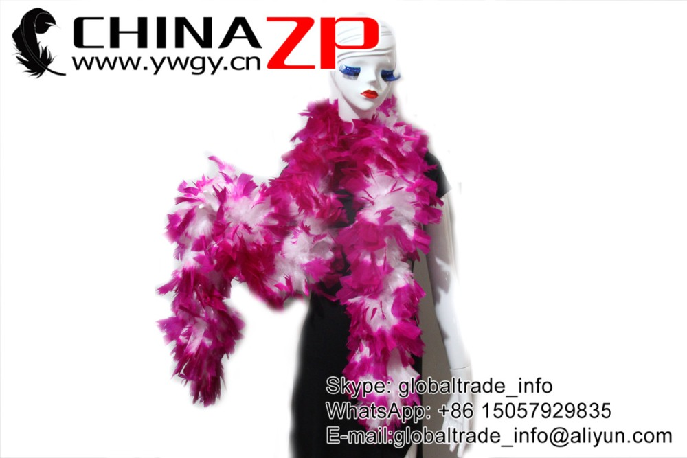 180cm Luxury Pink Feather Boa with Purple Tips 80g
