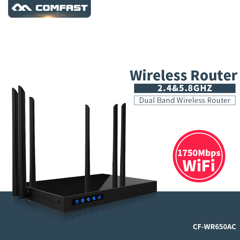 Comfast CF-WR650AC 1750Mbps WIFI Router 2.4G+5.8G Enginering Manage router 1 Wan 4 Lan 802.11ac access point wi fi router 1750mbps 2 4g 5 8g dual band ac wifi router enginering ac manage1wan 4lan 802 11ac access point wi fi router comfast cf wr650ac