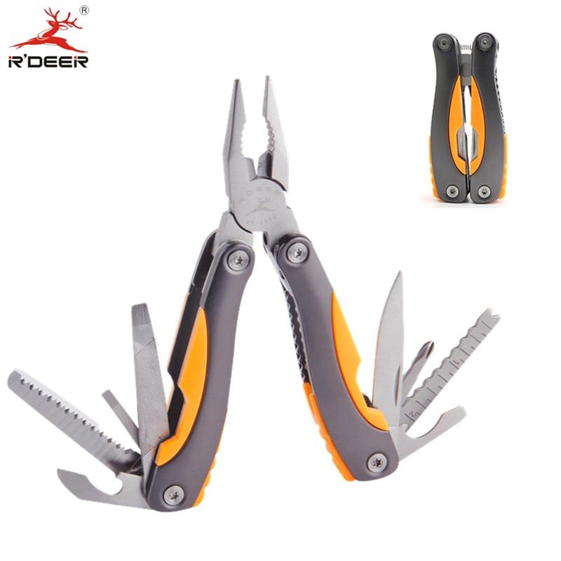 Pinze multifunzione RDEER Pinze da taglio in acciaio inossidabile Pinza da combinazione pieghevole per esterni con utensili manuali a coltello