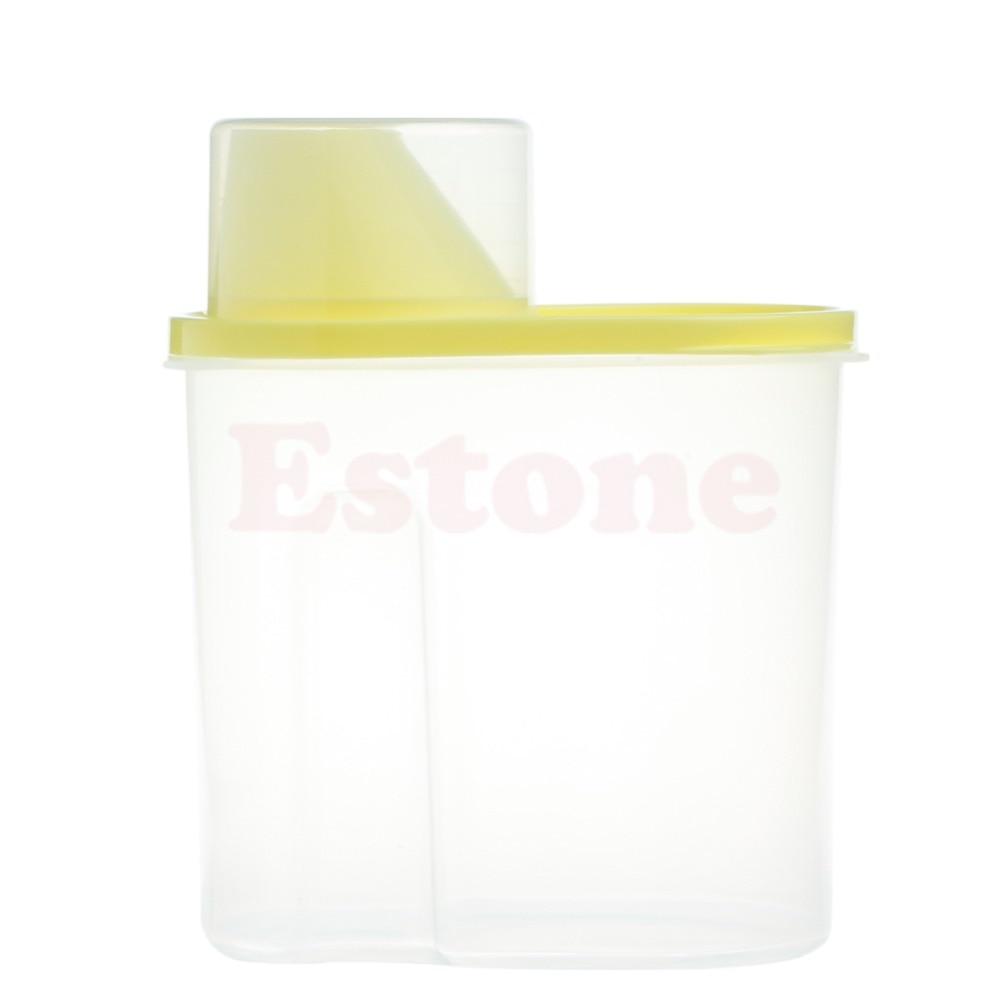 Купить с кэшбэком Dried Food Cereal Flour Pasta Food Storage Dispenser Rice Container Sealed Box 2.5L good quality