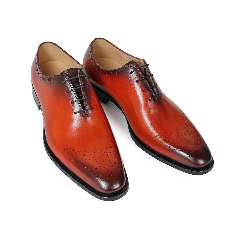 A Hombre jacinth Hecho Vintage Oxford Cuero Vikeduo De Blue Zapato Hombres Boda Marca Vestido Genuino Oficina Zapatos Fiesta Patina Mano Brogue SpEAAPwq