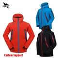 HOT Custom 2016 Waterproof Hooded Softshell Jacket Men Mammoth Hiking Clothing Thermal Tech Fleece Ski Fishing Climbing Clothes