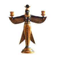 Egypt Isis Goddess Candleholder European Style Home Ornaments Resin Craftwork Decoration Dining Room Candleholder X1799