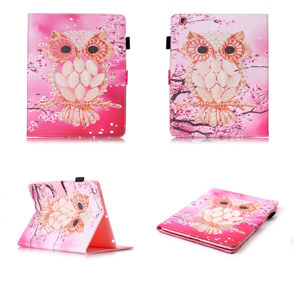 For Apple iPad 7 6 5 4 3 2 Owl PU Leather Wallet CoverTablet Back Case for Apple iPad air 3 2 1 iPad Mini 4 3 2 Cases #T