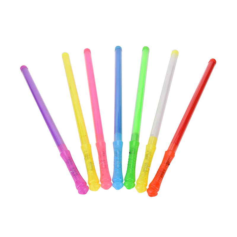 Light up 7 colors led foam stick wands rally rave cheer for Led wands wholesale
