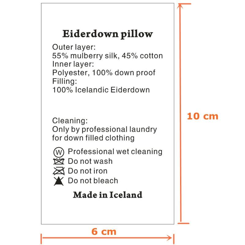 Custom White Washing Labels Soft Satin Ribbon Cloth Print