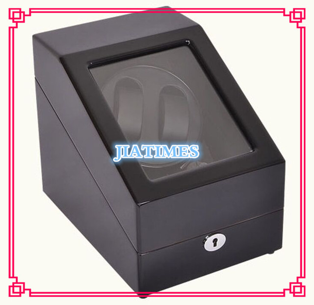 High Quality 2+3 Black+Black Watch Winder Wood Case Box Carbon Fiber PU