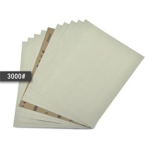 Image 4 - POLIWELL 4 pièces 280x230mm feuilles de ponçage imperméables haute Performance papier de verre humide et sec pour le polissage de voiture de meubles en bois en métal