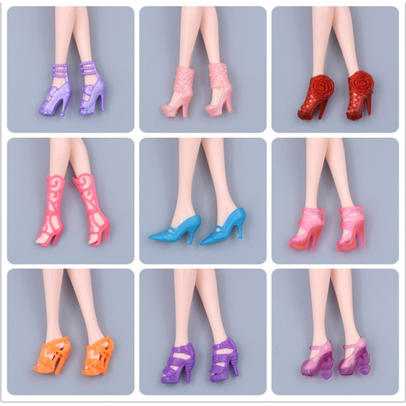 20pairs Lot Cute Fashion Colorful Doll Accessories Shoes For Dolls Play House Gifts For Children