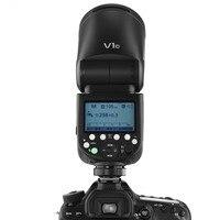 nikon sony במלאי!!! Godox V1 פלאש V1C V1N V1S V1F V1O TTL 1 / 8000s HSS סוללת ליתיום פלאש Speedlite עבור Canon Nikon Sony פוג