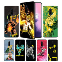 Iron Fist Art Retro Soft Black Silicone Case Cover for OnePlus 6 6T 7 Pro 5G Ultra-thin TPU Phone Back Protective