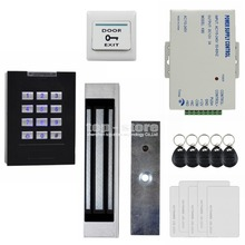DIYSECUR 180KG Magnetic Lock Door Lock 125KHz RFID Reader Blue Backlight Keypad Door Access Control Security System Kit KS160